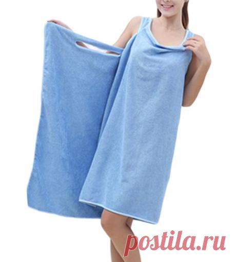 Как из обычного полотенца сделать платье, пончо, халат и др. |