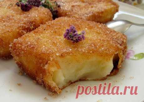 """(3) Испанский десерт """"Жареное молоко"""" (Leche frita) - пошаговый рецепт с фото. Автор рецепта Anna Buyak🏃♂️ . - Cookpad"""