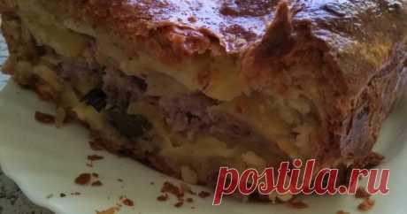 Пирог с картошкой и фаршем Автор рецепта Ольга Фрейбергер Пирог с картошкой и фаршем - пошаговый рецепт с фото. #марафон