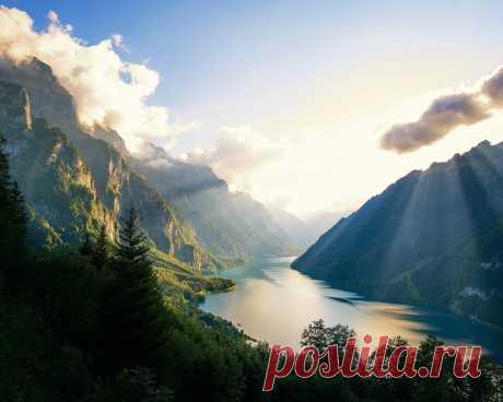 Картинки switzerland, alps, mountains, morning - обои 1280x1024, картинка №411001