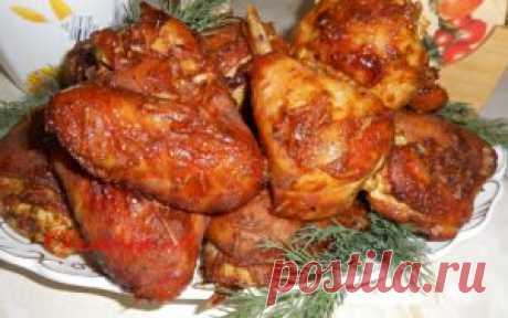 Курица в Духовке,как копченая в домашних условиях Друзья! Сегодня хочу предложить вам рецепт мясного блюда— Курица в Духовке, как копченая в домашних условиях. По вкусу мясо в этом маринаде получается, как копченая курица. Можно просто...