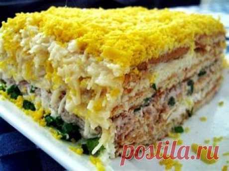 Рецепт - Рыбный торт. Как приготовить в домашних условиях быстро и вкусно. Фото рецепта