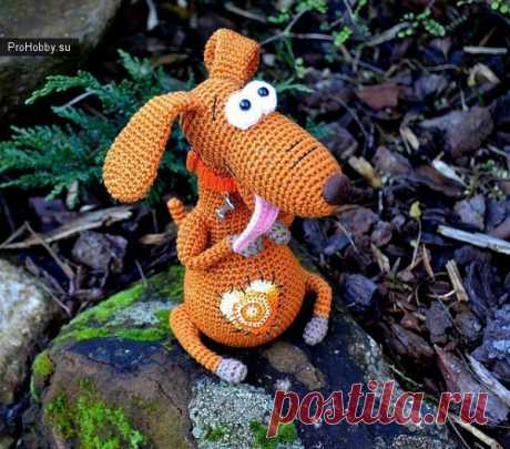 Песик Булька / Вязание игрушек / ProHobby.su | Вязание игрушек спицами и крючком для начинающих, мастер классы, схемы вязания