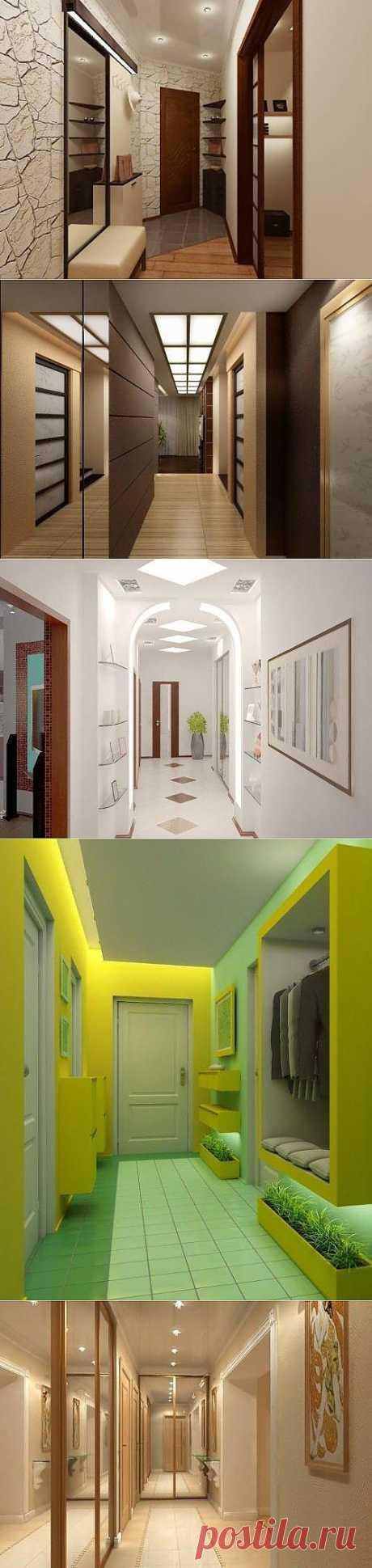 Дизайну узкой прихожей