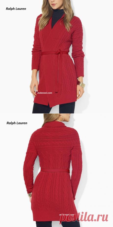 Красный кардиган | Вяжем с Лана Ви