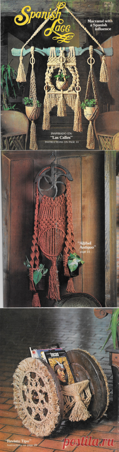 Macrame Pattern Booklet Macrame with Spanish от TheFoundBox