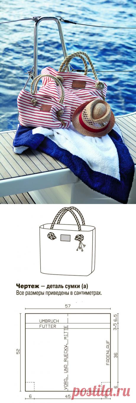 Трикотажная пляжная сумка своими руками — Мастер-классы на BurdaStyle.ru