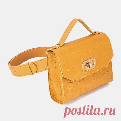 Women Multi-carry Alligator Waist Bag Handbag Sling Bag - US$19.99