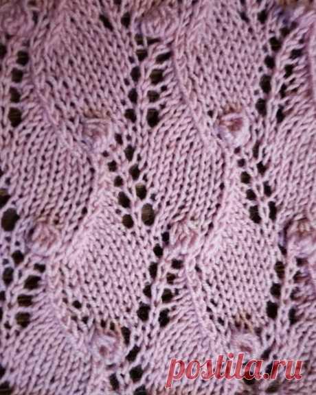 Отличный ажурный узор с «шишечками» для вязания топа или туники | Вязание-блог | Яндекс Дзен