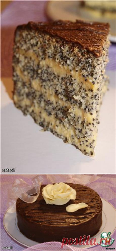 La torta tierna de amapola.