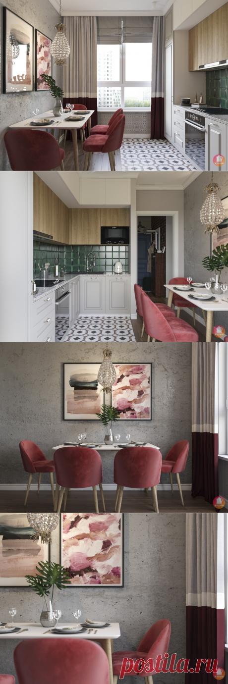 Кухня с ананасом площадью 7 кв.м. Стильно, ярко и сочно. | Карманный дизайнер | Яндекс Дзен