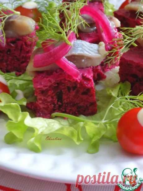 Свекольная закуска с сельдью – кулинарный рецепт