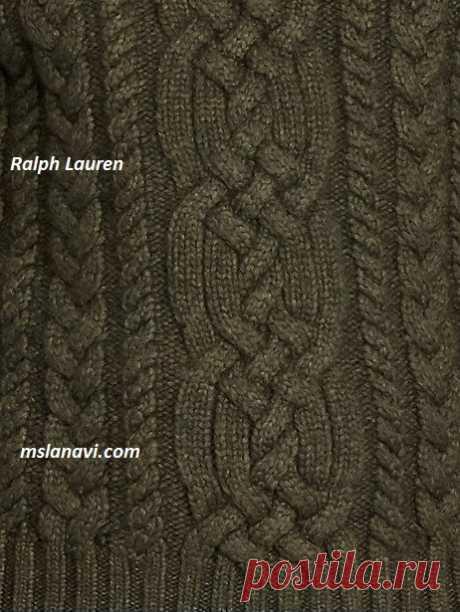 Мужской свитер спицами   Вяжем с Лана Ви