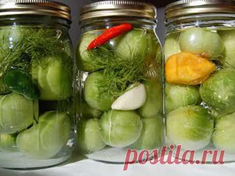 Готовим вкусно - Зеленые (бурые) помидоры «Пальчики оближешь»