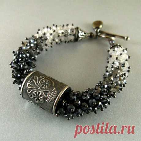 Beaded Bracelet   kumihimo
