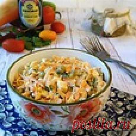 Морковно-яичный салат с горошком - кулинарный рецепт