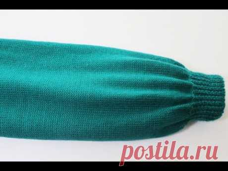 How to make a sweater sleeve on the knitting machine step by step