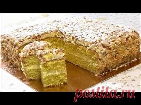 """Самый простой и вкусный Торт """"ПОДАРОЧНЫЙ"""" . Все  тонкости бисквита и крема /Gift Cake"""