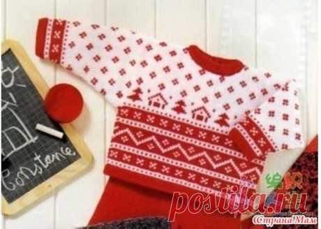 Жаккардовая кофточка для внучки 4-5 лет - Вязание для детей - Страна Мам