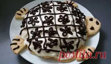Торт Черепаха: нежные бисквитные лепёшки в кофейно-сметанном креме - Скатерть-Самобранка - медиаплатформа МирТесен