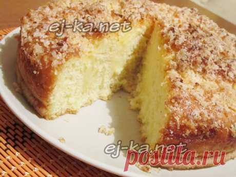 Сладкий пирог к чаю, легкий как пух: простой, быстрый и очень вкусный