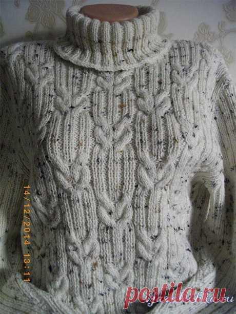 Узор для мужского пуловера Схема и описание: https://vjazalochka.ru/uzory-vyazaniya/spicami/uzor-dlya-muzhskogo-pulovera