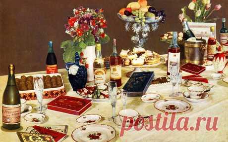 праздничный стол ( фото из Киги о вкусной и здоровой пище)
