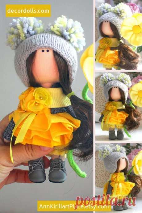 Fabric Handmade Doll Puppen Interior Doll Soft Textile Doll   Etsy