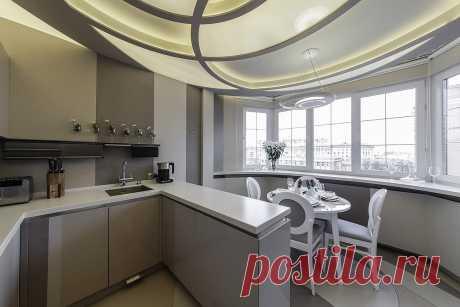 Идея кухни, обьединенной с балконом