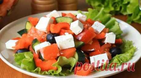 «Греческий» салат: домашнее приготовление - lublugotovit.me
