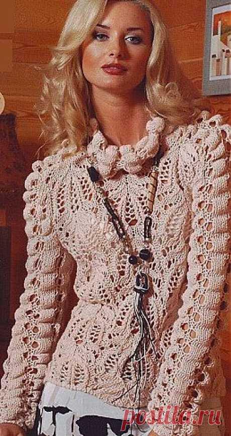 Ажурный пуловер спицами / Вязание для женщин спицами. Схемы / PassionForum - мастер-классы по рукоделию