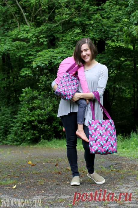 Free, easy tote bag pattern to sew - Swoodson Says