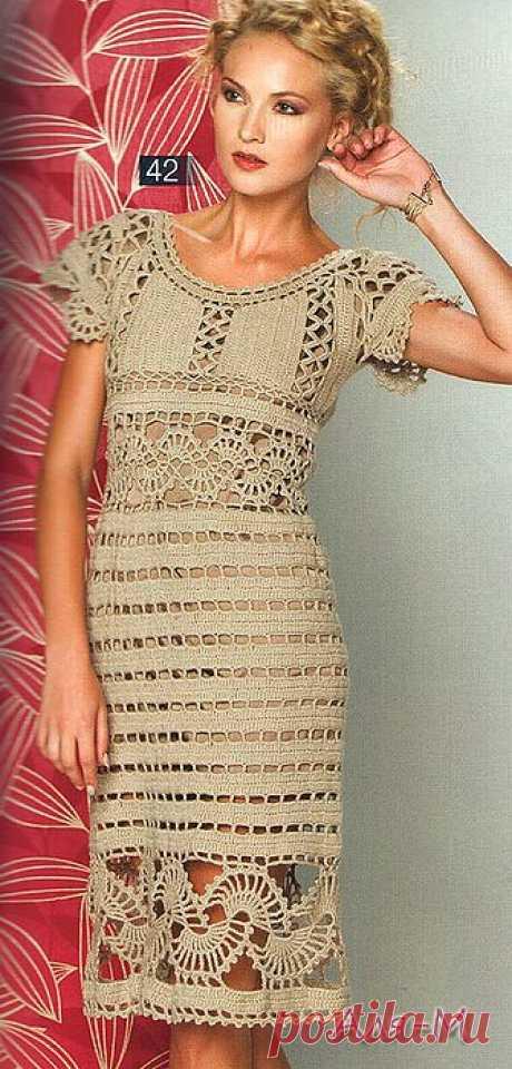 Изысканное платье с ажурными вставками