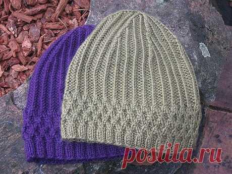 Универсальная шапка спицами: для женщин и мужчин | Мои Петельки
