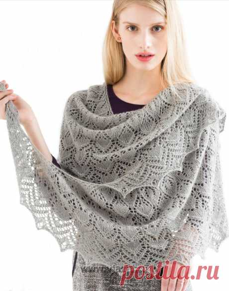 Openwork shawl with beads from festive Vogue 2015
