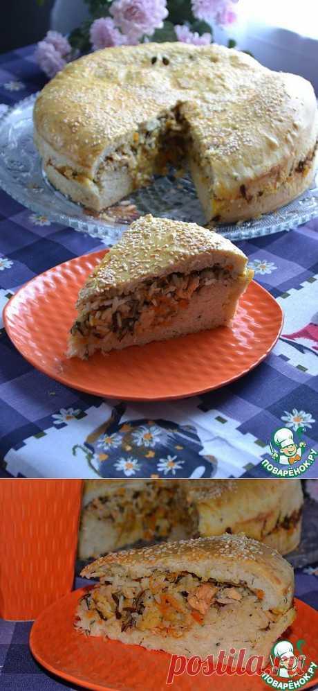 Рыбный пирог на тесте с укропом - кулинарный рецепт