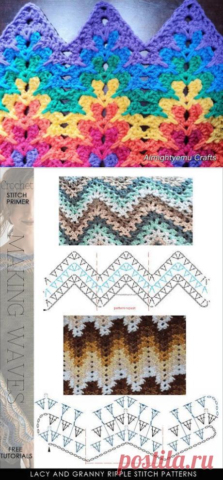 ЛЮБЛЮ ВЯЗАТЬ: Модификация бабушкиного квадрата, потрясающе красивый узор