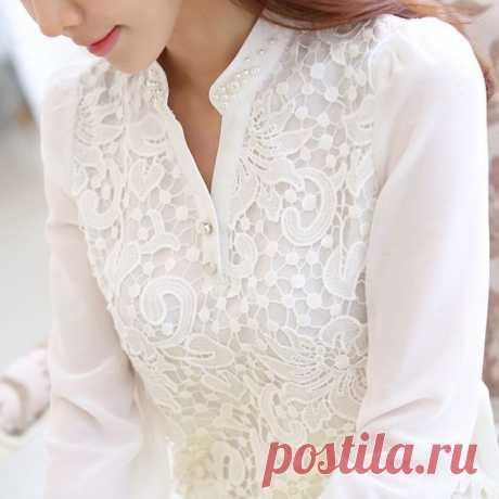 Актуальный тренд 2017: 18 белых блузок.