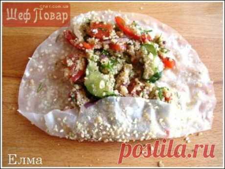 Салат в рисовой бумаге / Салаты / Рецепты / Шеф-повар – простые и вкусные кулинарные рецепты, фото-рецепты, видео-рецепты
