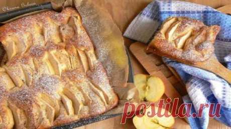 Яблочный пирог на молоке — готовится молниеносно, а поедается еще быстрее!
