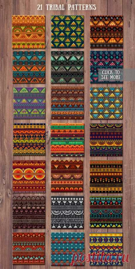 1.Tribal patterns, brushes and cards #paper#covers#wrapping#widely
