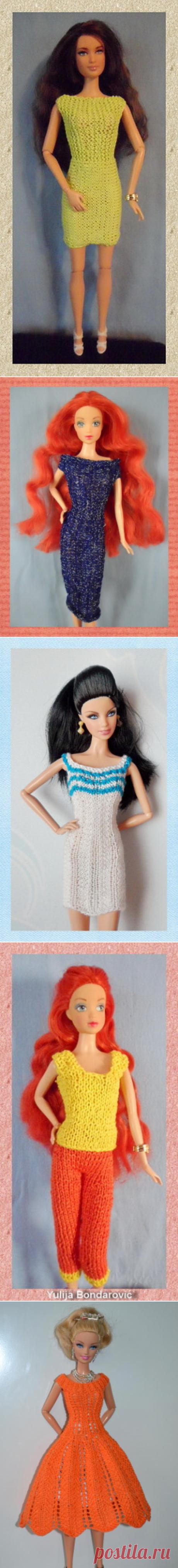 Sticka till Barbie - вяжем спицами - Kimberly Club. Одежда для кукол.