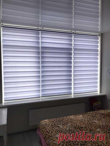 Тканевые жалюзи День-ночь на пластиковых окнах