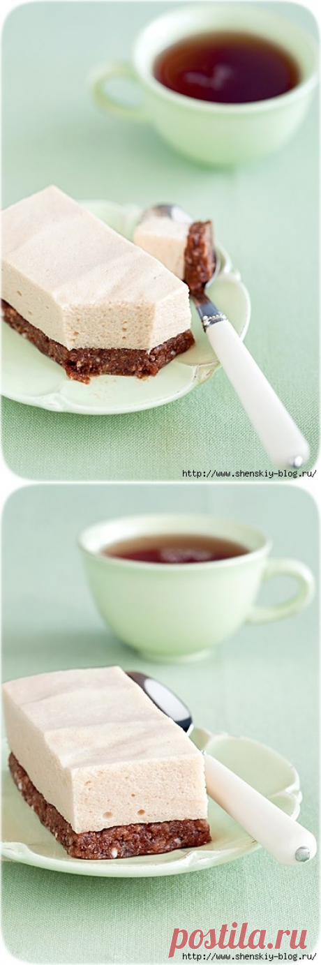 "Десерт ""Яблочные облака"" - без выпечки, без сахара, без масла"