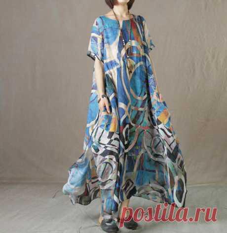 Summer Linen dress for women Maxi dress Linen Loose dress   Etsy