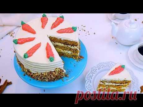 Морковный Торт с Ананасами и Орехами.🥕🍍🥜  Такой Торт Вы еще не Пробовали!