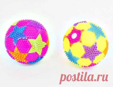 Купить Мяч Звездочки,  свет, дисплей, арт.635799
