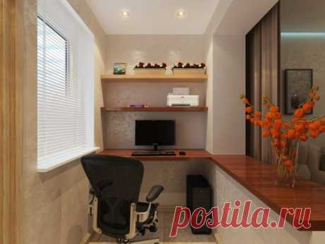 Объединение жилой комнаты с балконом или лоджией.
