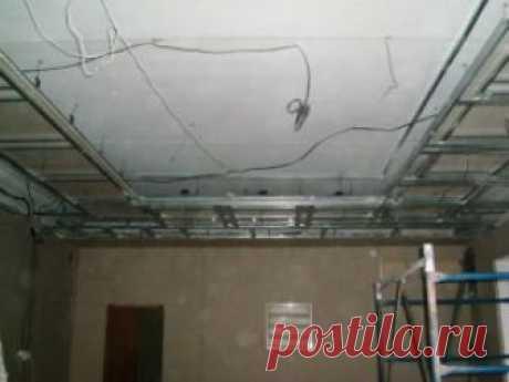 Потолок из гипсокартона с подсветкой своими руками: двухуровневый и подвесной: Пошаговая инструкция +Видео