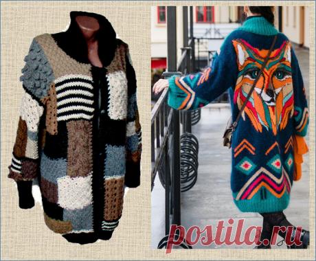Вязаное пальто - тепло, красиво и полезно или только для красоты? - рассматриваем 50 моделей |